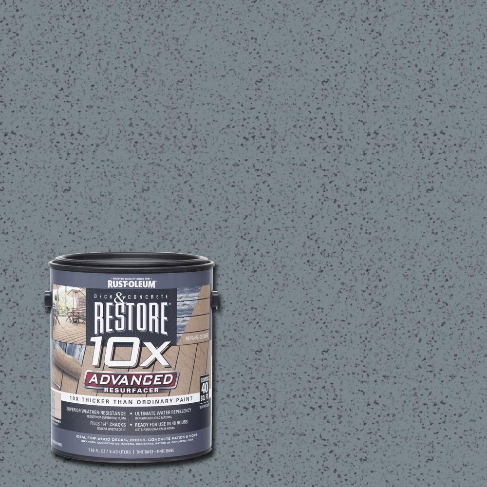 Rust-Oleum Restore 1 gal. 10X Advanced Slate Deck and Concrete Resurfacer