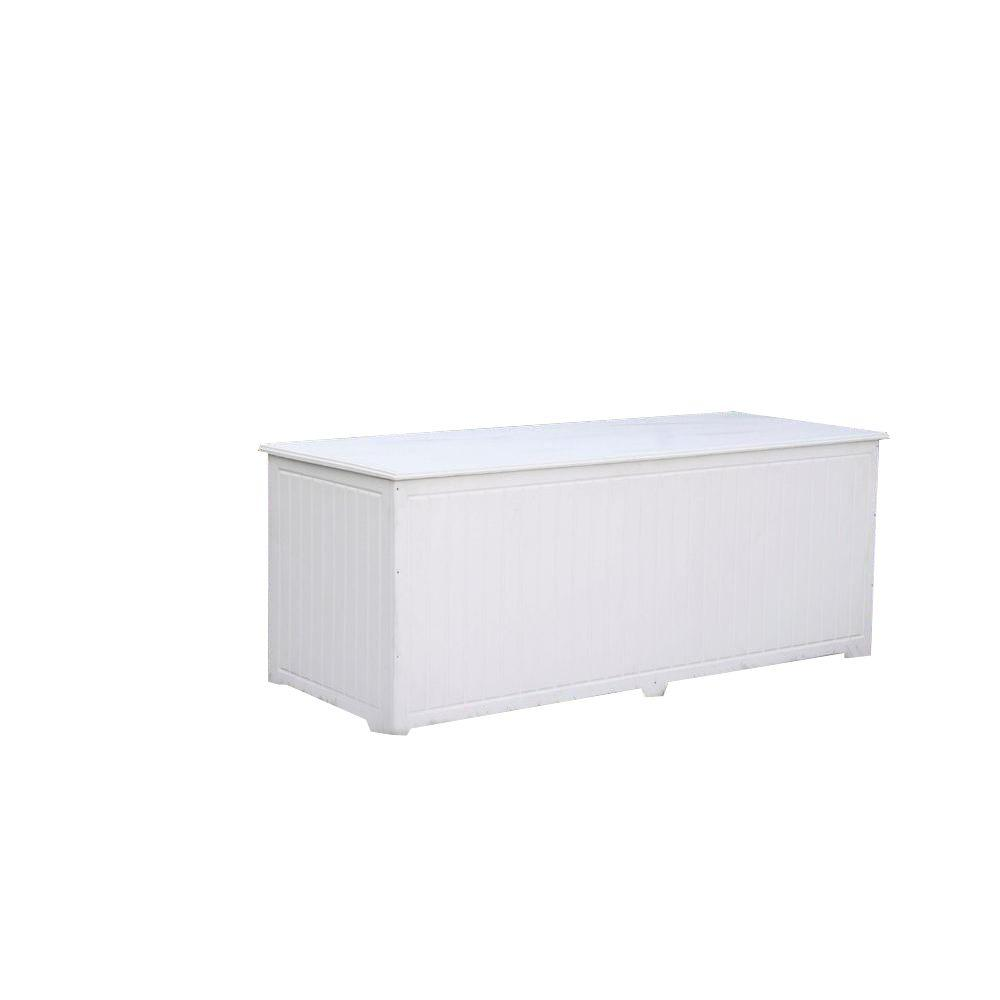 Sydney 110 Gal. Extra Large White Recycled Plastic Commercial Grade Big