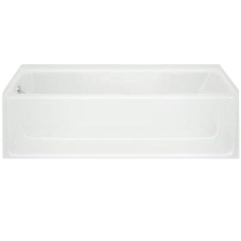 STERLING All Pro 5 Ft. Left Drain Rectangular Alcove Bathtub In White