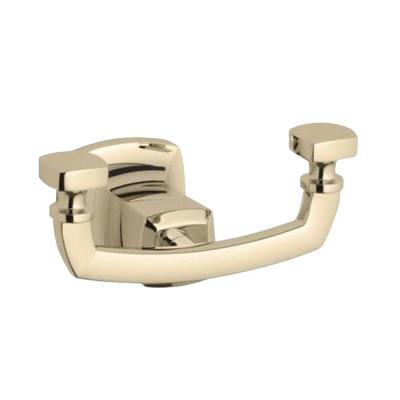 Margaux Double Robe Hook in Vibrant French Gold