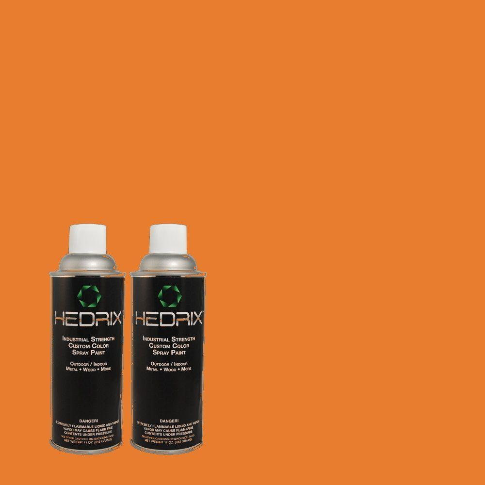 Hedrix 11 oz. Match of S-G-260 Citris Blast Low Lustre Custom Spray Paint (2-Pack)
