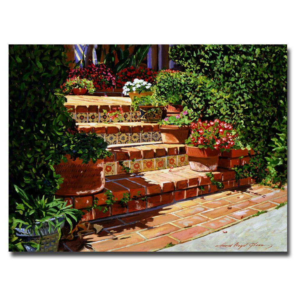 24 in. x 32 in. A Spanish Garden Canvas Art