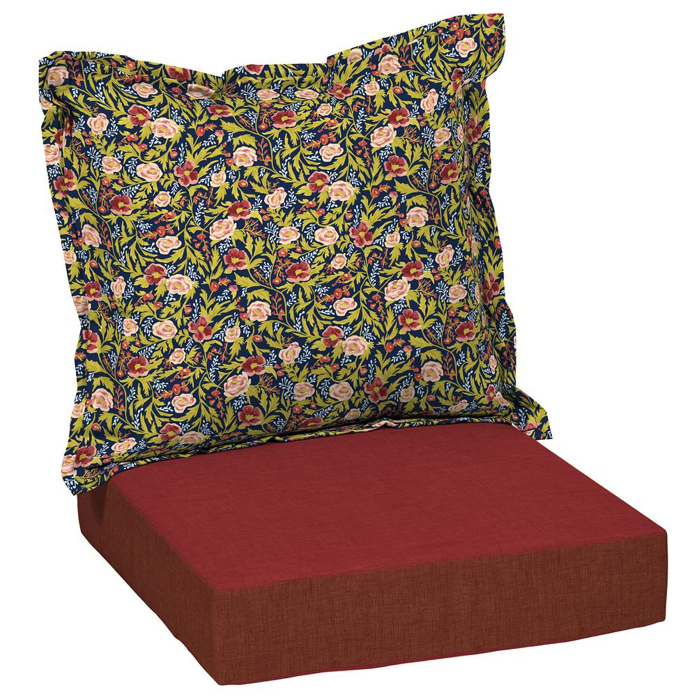 Artisans 45 in. x 24 in. Cecelia Floral Deep Seating Outdoor