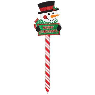 Snowman 20.5 in. Christmas Yard Sign (5-Pack)