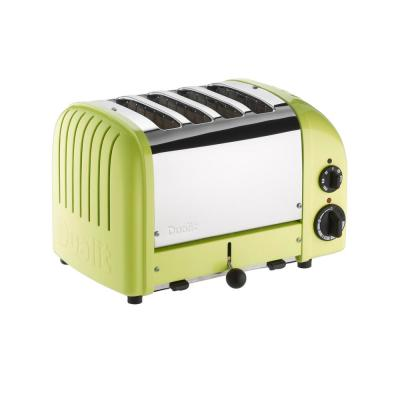 Dualit-New Gen 4-Slice Lime Green Wide Slot Toaster with Crumb Tray