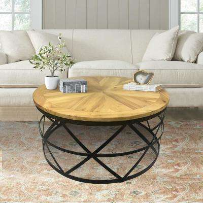 Round Black Coffee Tables Accent Tables The Home Depot
