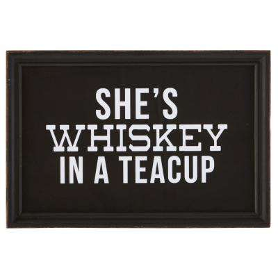 "8.25 in. H x 12 in. W ""She's Whiskey In A Teacup"" Framed Wall Art"