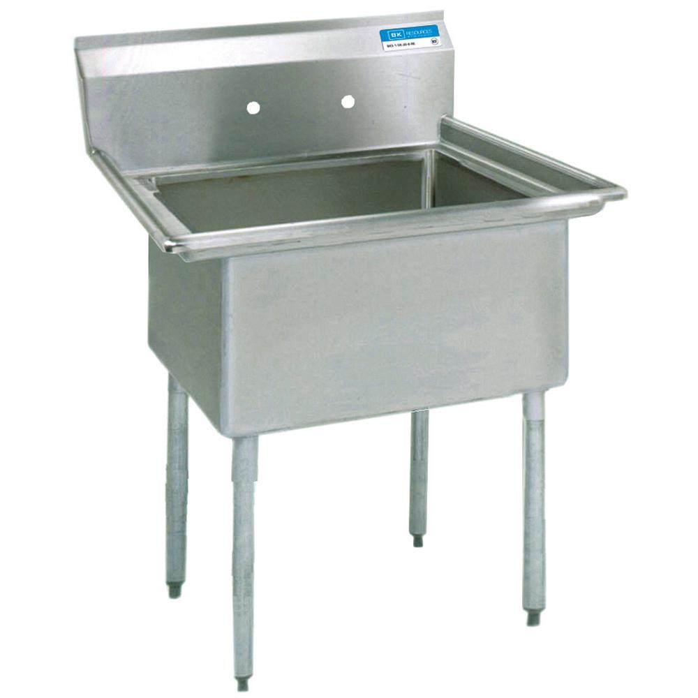 18 304 Stainless Steel Freestanding Single Bowl Kitchen Sink 19 In L With Drain