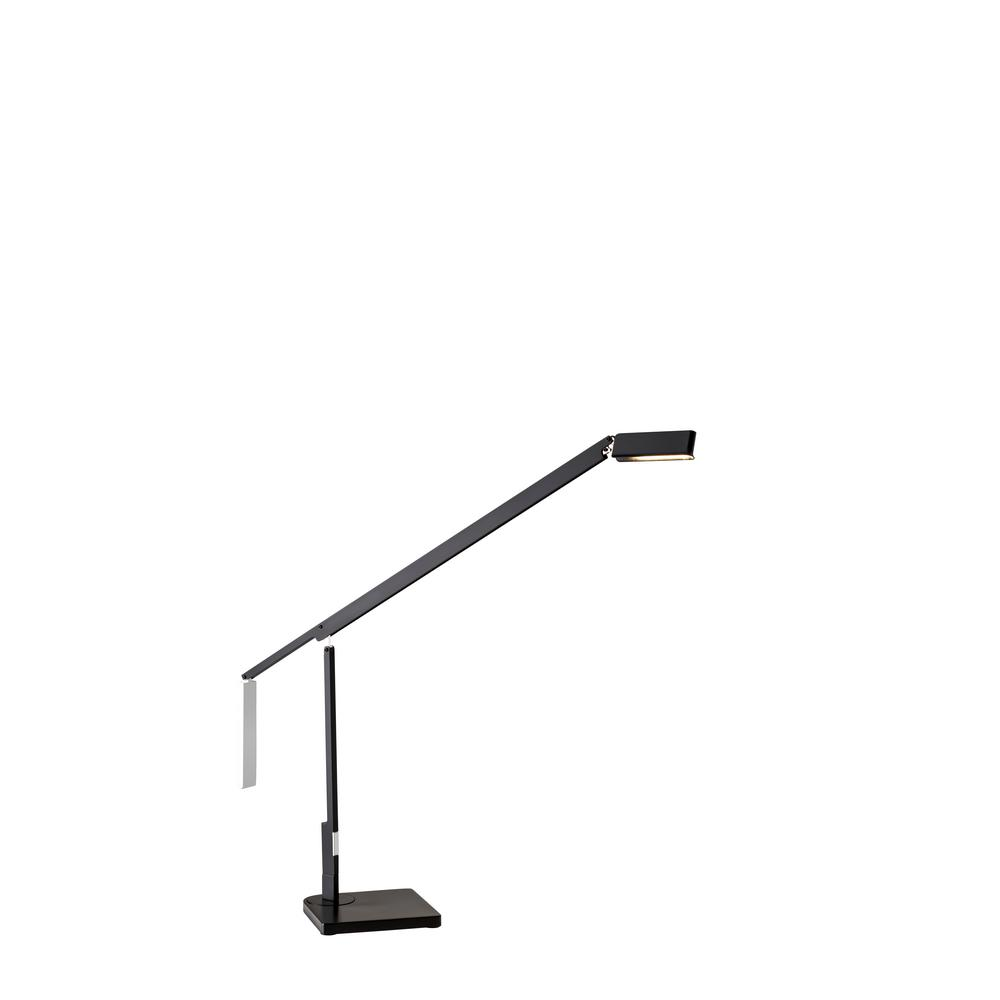 ADS360 Lazzaro 24 in. Integrated LED Black Desk Lamp