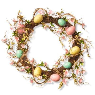 18 in. Easter Egg Wreath