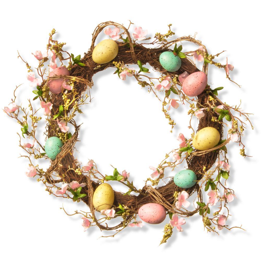 National Tree Company 18 in. Easter Egg Wreath RAE-15532W18