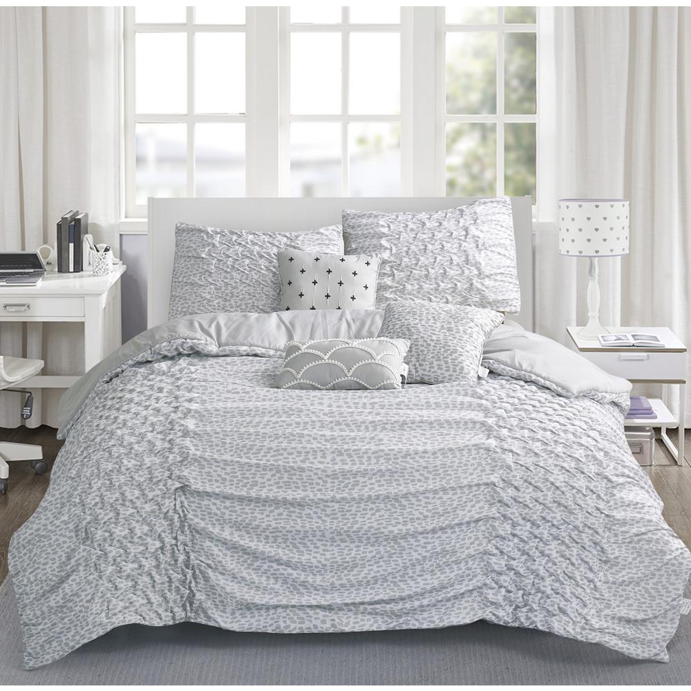 Carnival 6-Piece Silver Queen Comforter Set