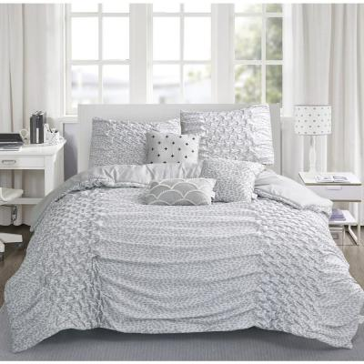 Carnival 6-Piece Silver King Comforter Set