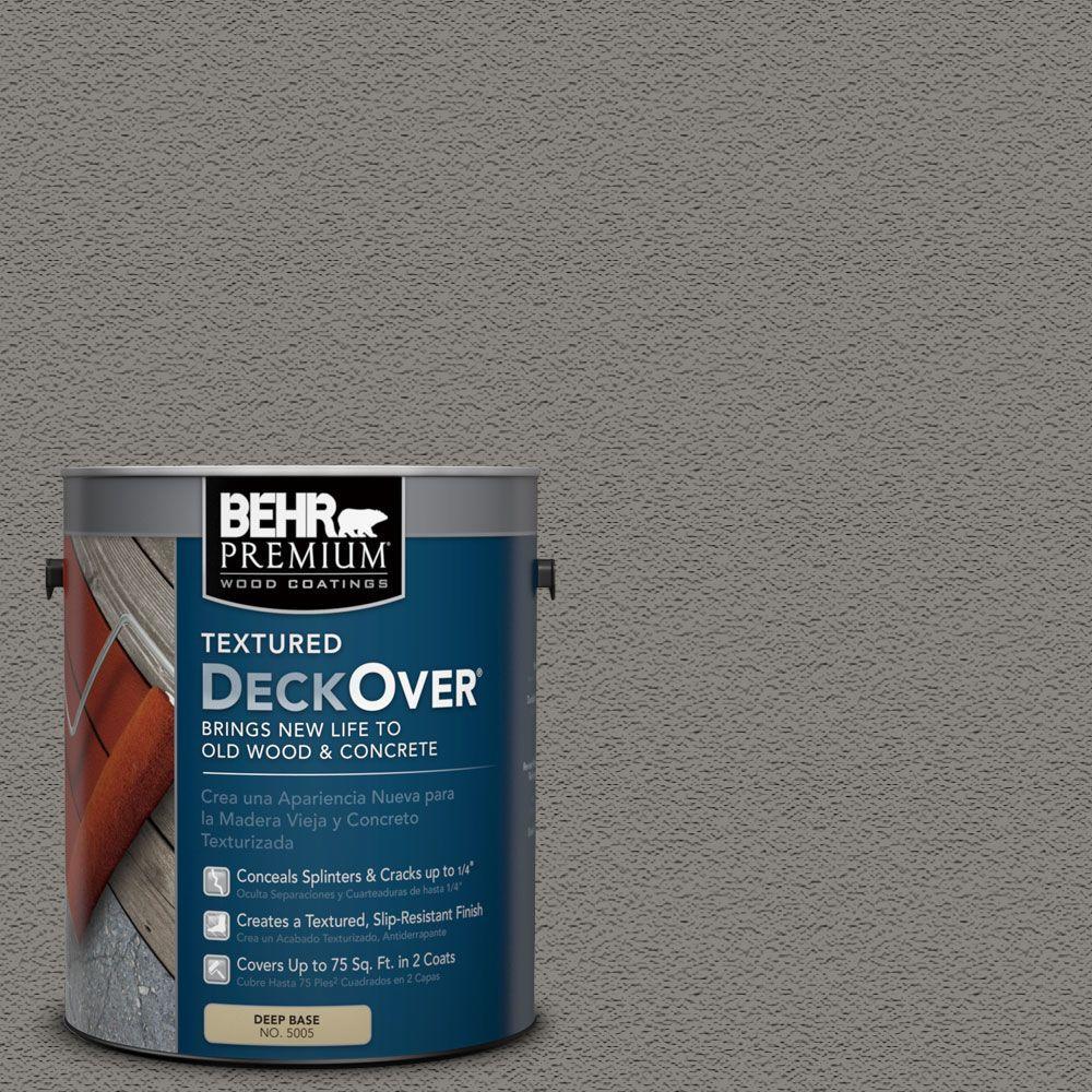 Behr premium textured deckover 1 gal sc 137 drift gray - Exterior textured paint home depot ...