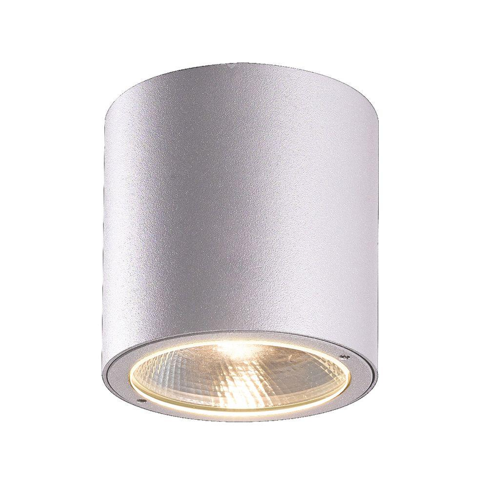 Eurofase Sky Collection 1-Light Marine Grey Outdoor LED Flush Mount ...