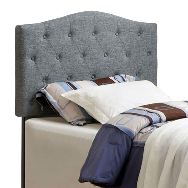 Elegant and Contemporary Gray Full Size Queen Headboard
