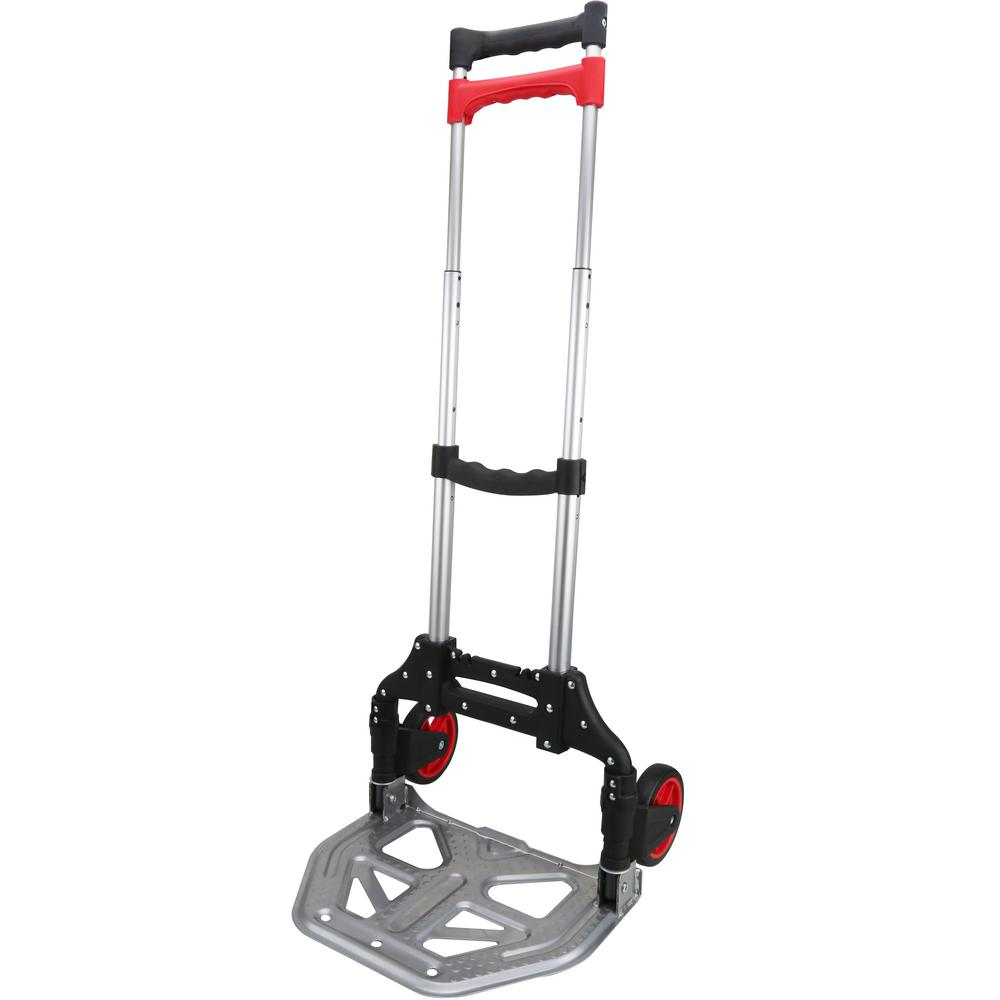 OLYMPIA Pack-N-Roll 155 lbs. Folding Hand Truck with Steel Toe Plate