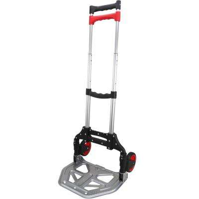 Pack-N-Roll 155 lbs. Folding Hand Truck with Steel Toe Plate