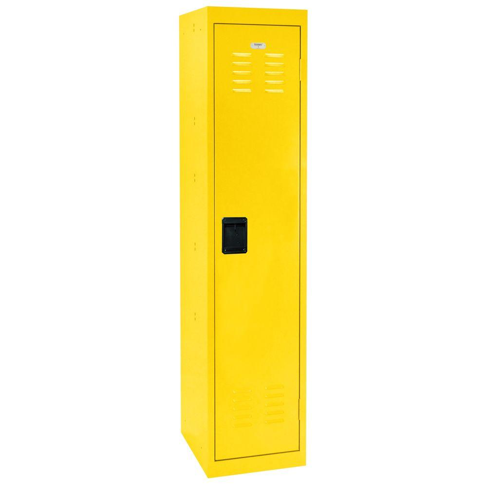Sandusky 66 in. H Single-Tier Welded Steel Storage Locker in Yellow