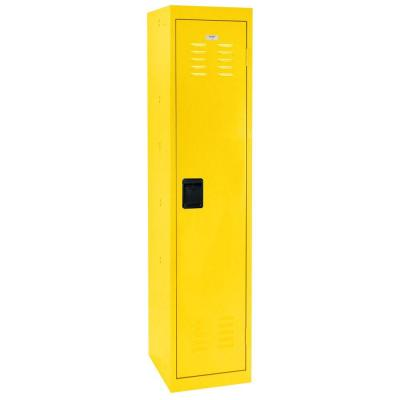 66 in. H Single-Tier Welded Steel Storage Locker in Yellow
