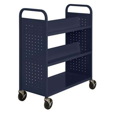 Navy Mobile Steel Bookcase