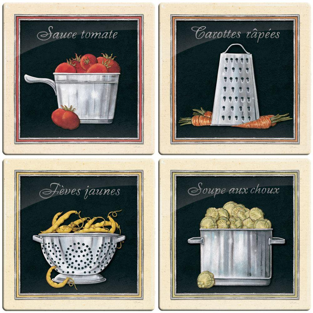 Smart Tiles 3-11/16 in. x 3-11/16 in. Bistro Gel Tile Multi-Colored Decorative Wall Tile (4-Pack)-DISCONTINUED