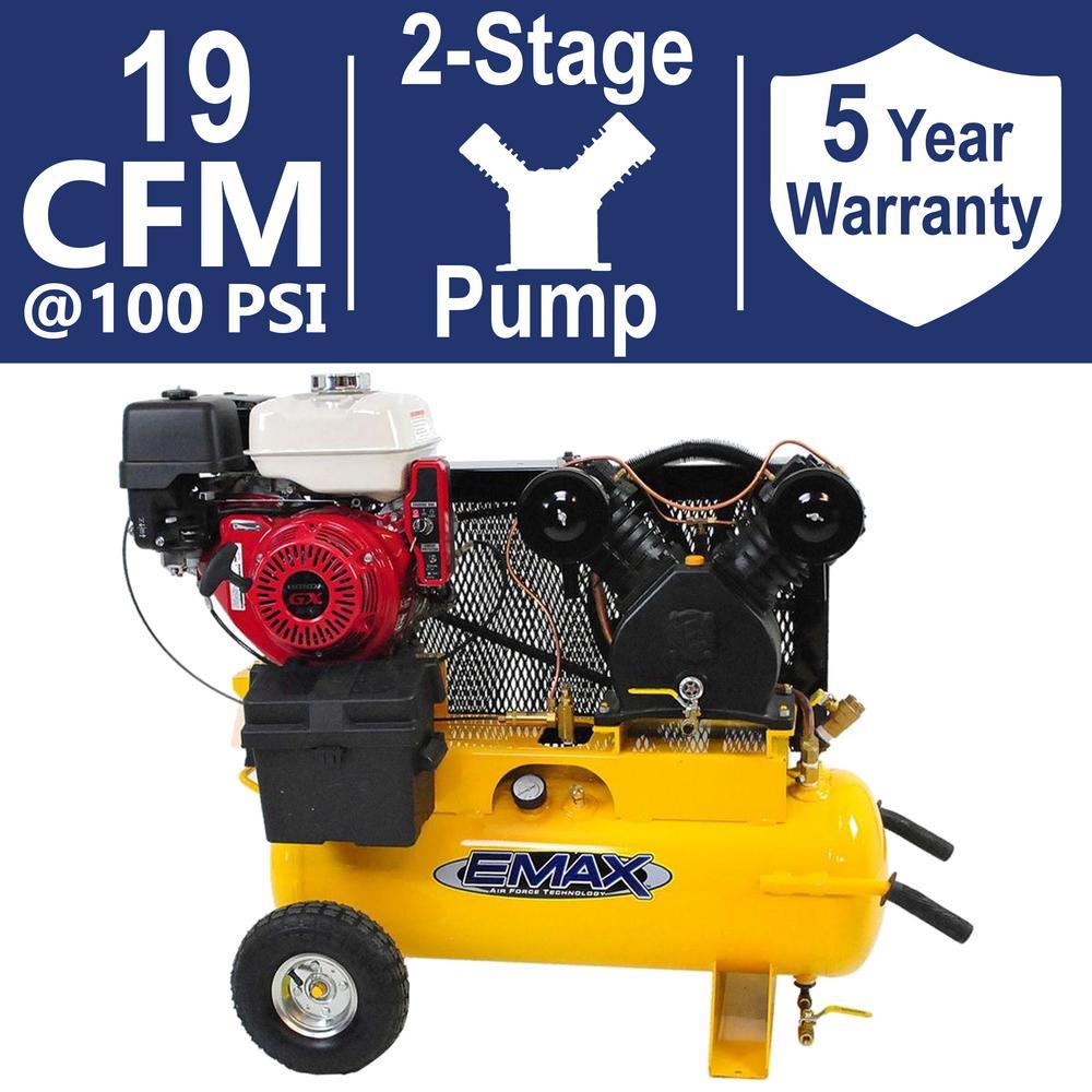 compresor industrial. industrial plus series 17 gal. 8 hp truck mount portable gasoline compresor