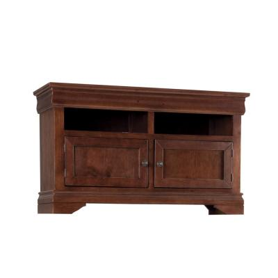 Coventry 54 in. Auburn Cherry Wood TV Stand Fits TVs Up to 60 in. with Storage Doors
