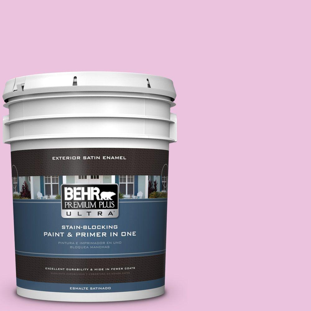 BEHR Premium Plus Ultra 5-gal. #680A-2 Sugar Sweet Satin Enamel Exterior Paint