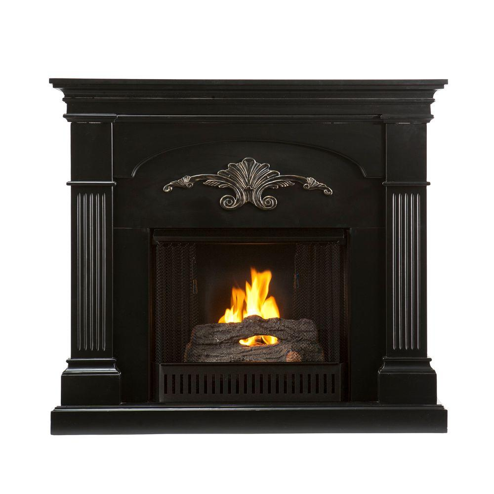 Southern Enterprises Sicilian Harvest 45 in. Gel Fuel Fireplace in Black-DISCONTINUED