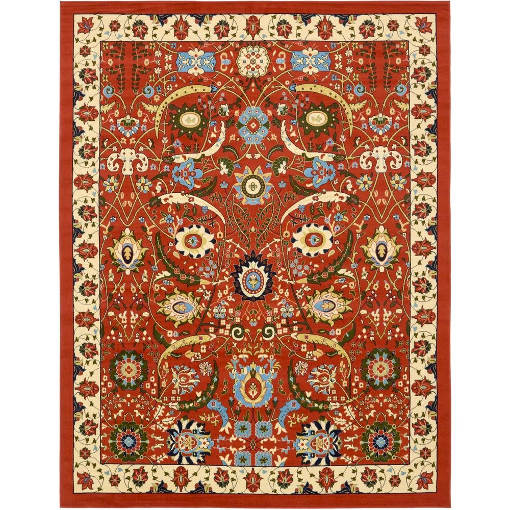 Unique Loom Isfahan Terracotta 10 Ft X 13 Ft Area Rug