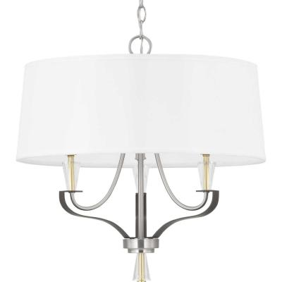 Nealy 3-Light Brushed Nickel Chandelier