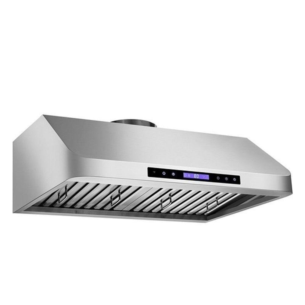 Kokols Touch Screen 36 In Under Cabinet Range Hood Stainless Steel