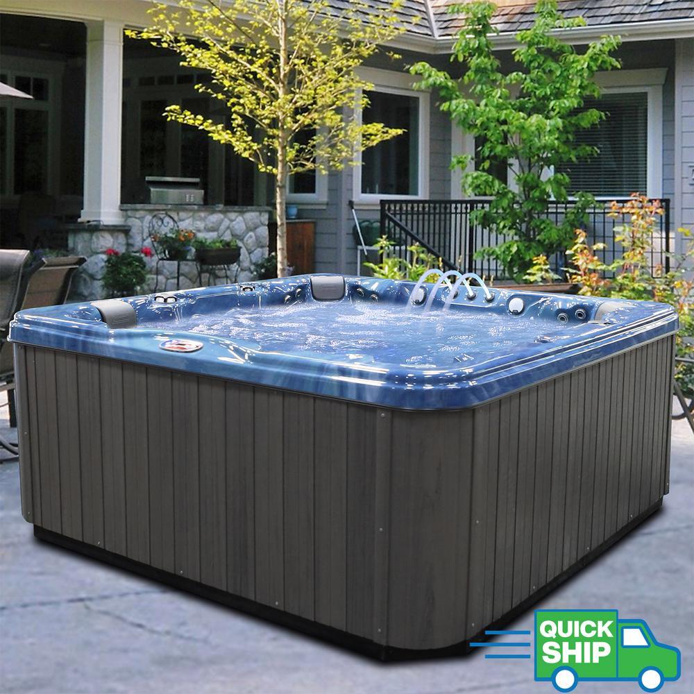 American Spas 7-Person 56-Jet Premium Acrylic Bench Spa Hot