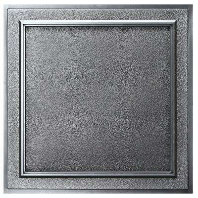 Belgium 2 ft. x 2 ft. Lay-in or Glue-up Ceiling Tile in Antique Nickel (40 sq. ft. / case)