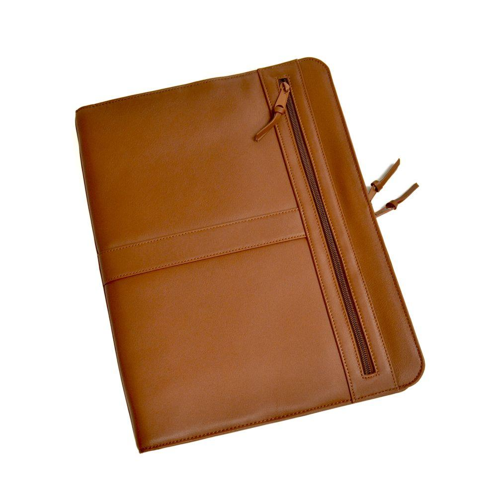Attrayant Royce Tan Luxury Zip Around Writing Portfolio And IPad Tablet Organizer In  Genuine Leather