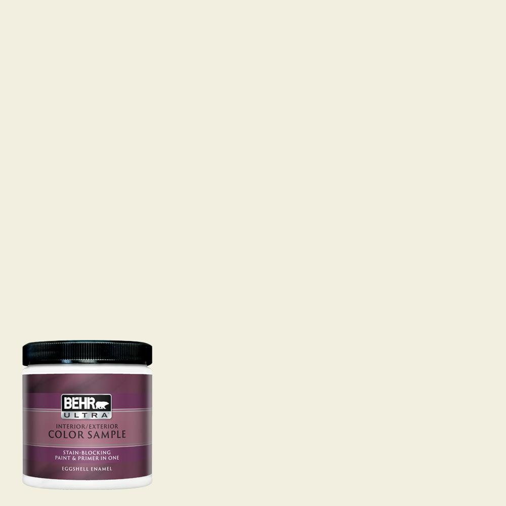 Behr Ultra 8 Oz Gr W01 White Wool Eggshell Enamel Interior Paint And Primer In One Sample Ul21016 The Home Depot