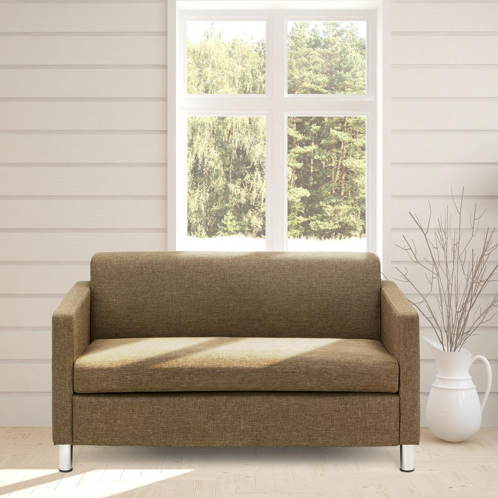 Simply Home  Piece Brown Reversible Sofa Bed
