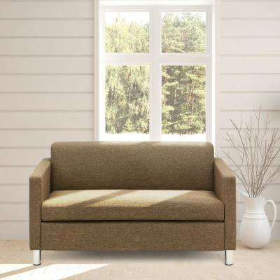 Simply Home 1-Piece Brown Reversible Sofa
