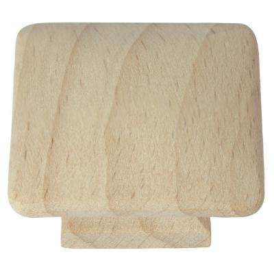 Au Natural 1-1/2 in. Wood Square Cabinet Knob