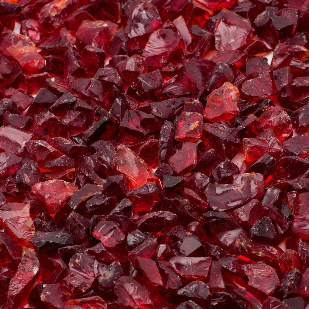 Red Landscape Fire Glass - Red - Classic Stone - Landscape Rocks - Hardscapes - The Home Depot