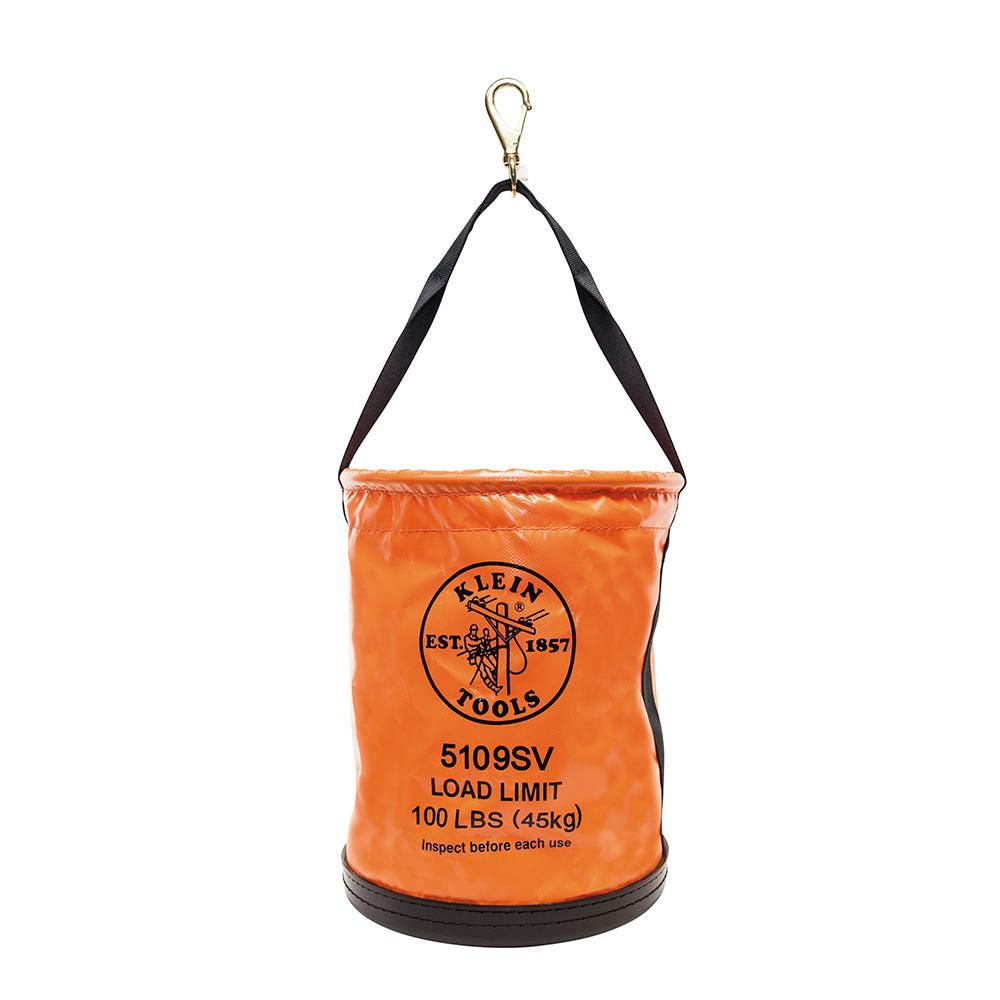 Utility Bucket, Vinyl Tool Bucket with Swivel Snap, 12-Inch