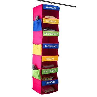 7-Shelf Portable Hanging Daily Activity Organizer for Kids