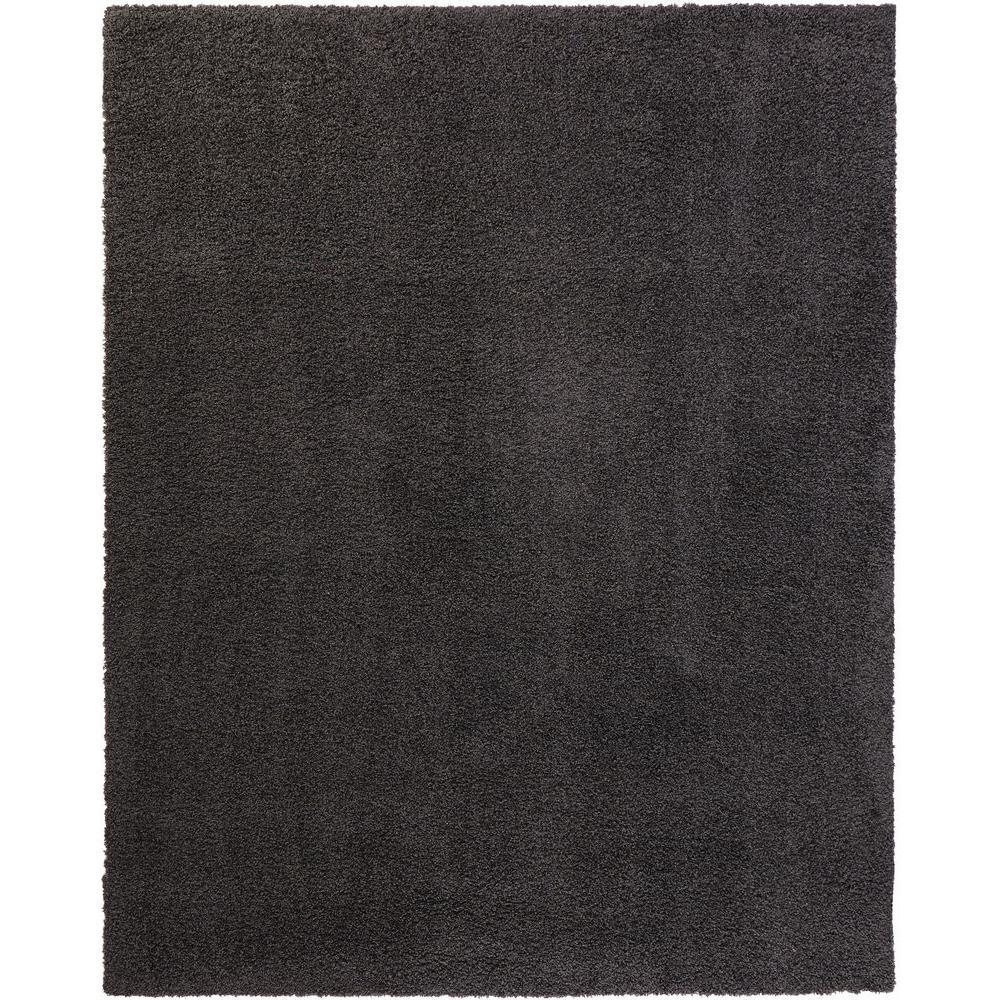 Shaggy Dark Gray 7 ft. 10 in. x 9 ft. 10 in. Area Rug