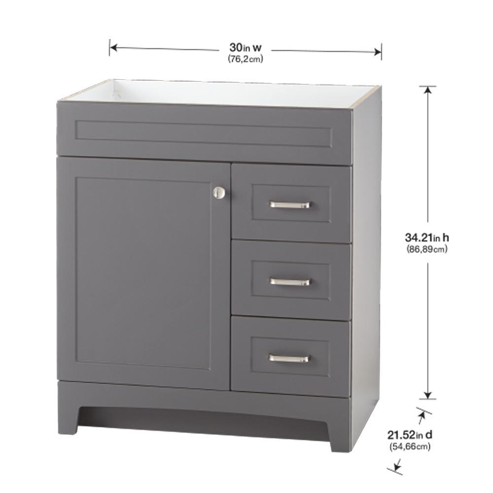 D Bathroom Vanity Cabinet, Bathroom Vanities 30 Inch With Drawers