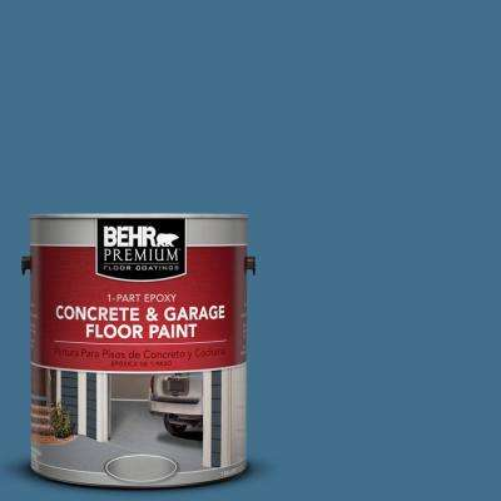 1 gal. #M500-5 Sojourn Blue 1-Part Epoxy Concrete and Garage Floor Paint