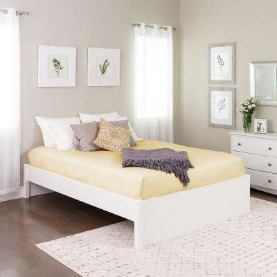 Select White Queen 4-Post Platform Bed