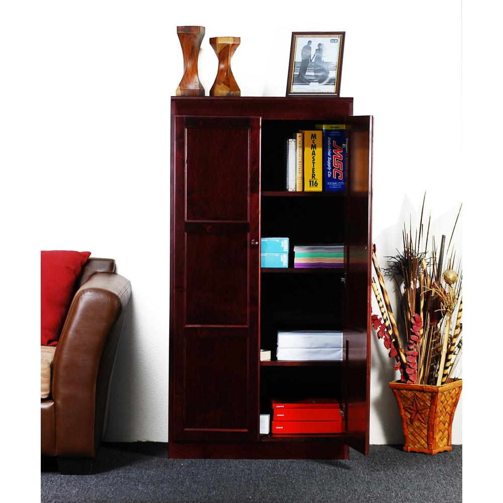 Concepts In Wood Cherry Multi-Use Storage Pantry