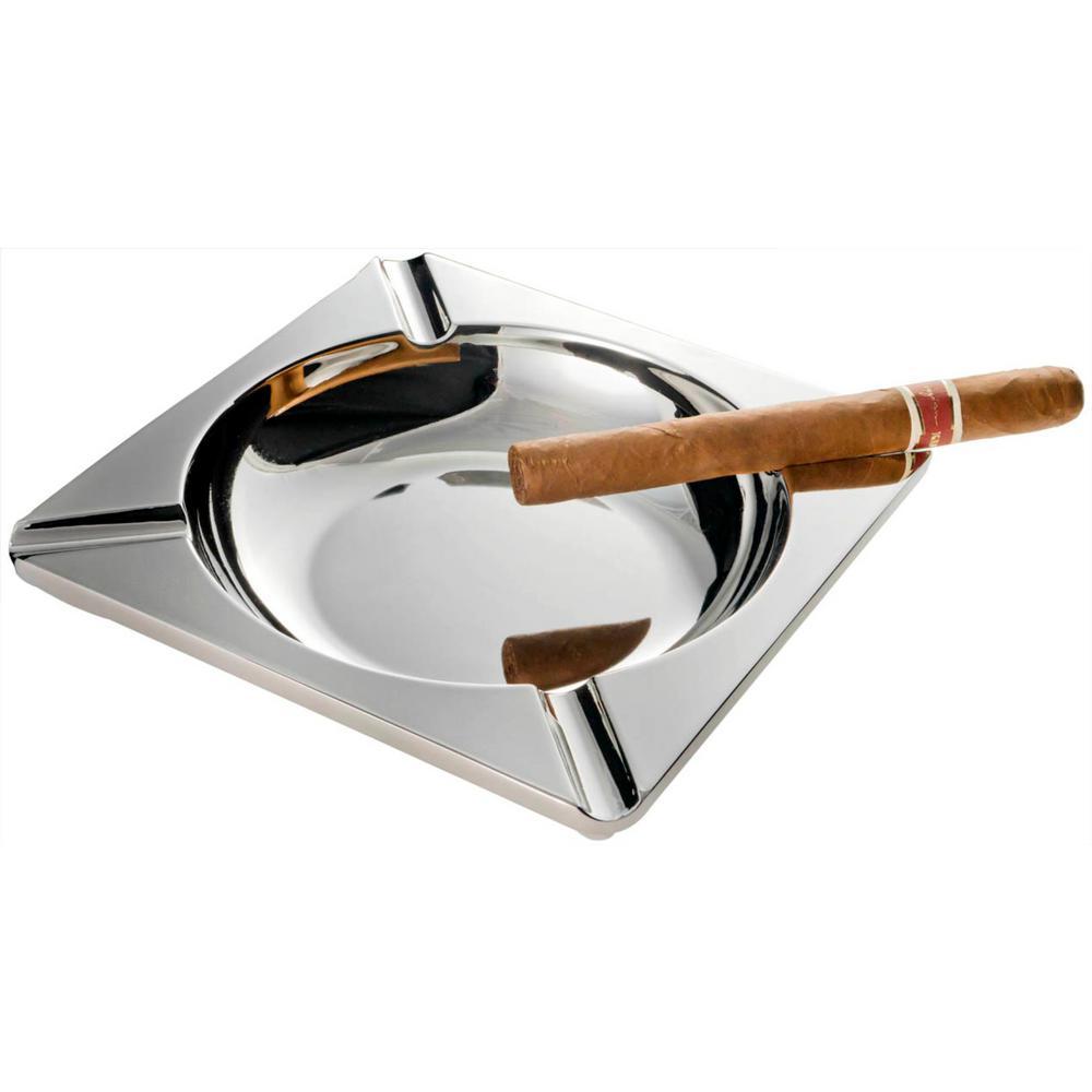 Gathering Large Solid Metal Cigar Ashtray