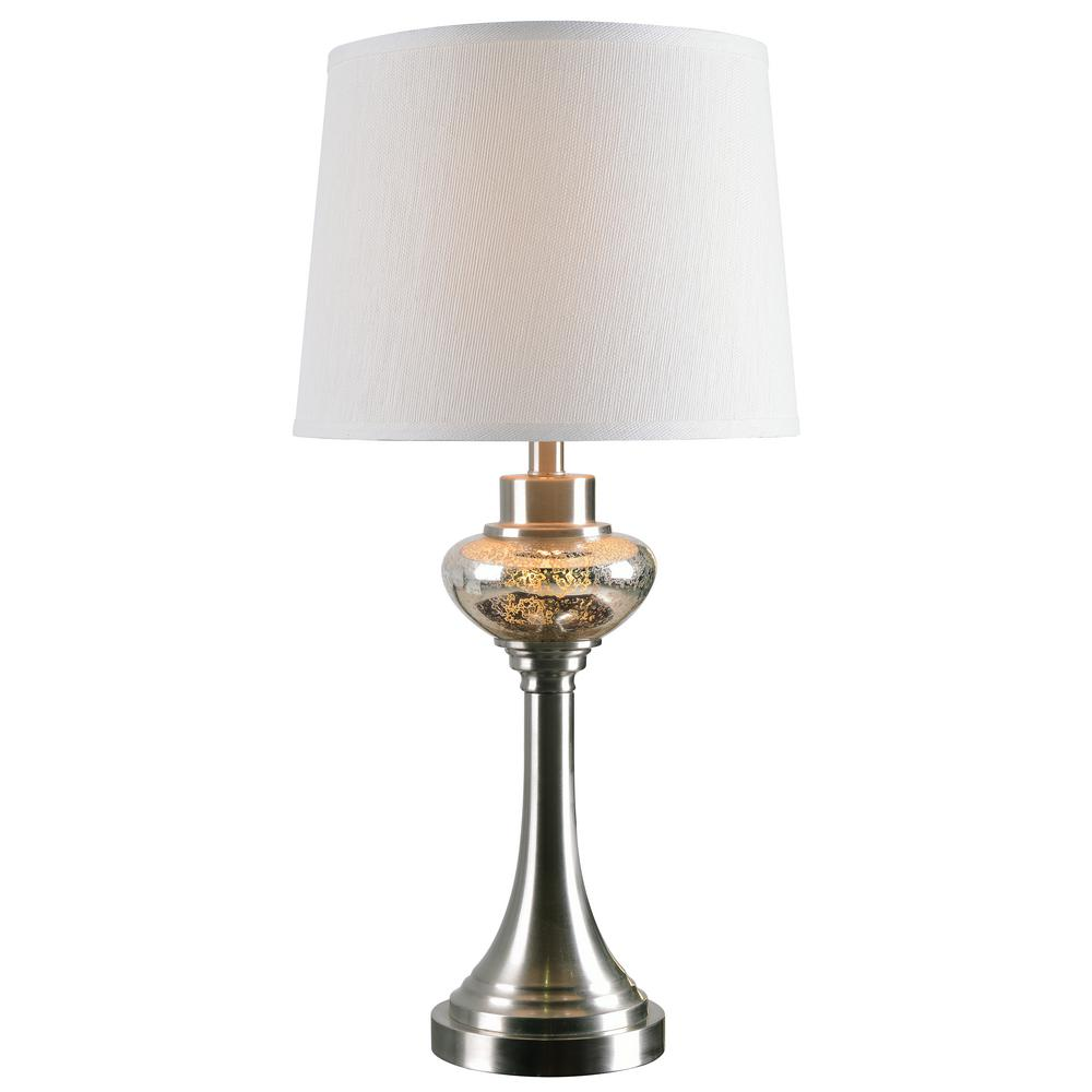 Kenroy Home Trumpet 28 In. Steel Indoor Table Lamp With White Shade